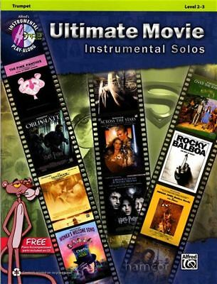 Ultimate Movie Instrumental Solos Trumpet Sheet Music Book & Play-Along CD