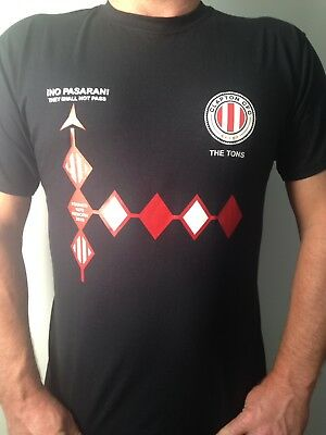 Clapton CFC, Clapton FC 2018 Supporters T-shirt... No Pasaran, The Tons logos
