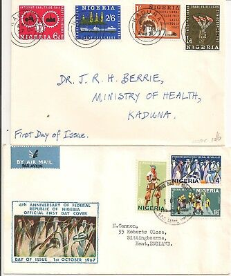 Nigeria first day covers from 1962 & 1967