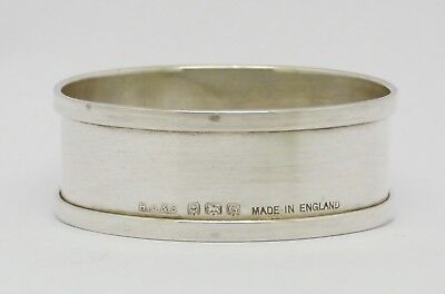 Elegant Blank Solid Silver Napkin Ring Hm 1931 - Good Condition - Great Gift!