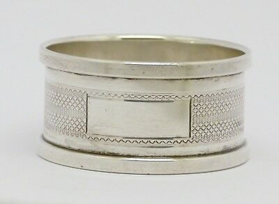 Elegant Solid Sterling Silver Napkin Ring Hm 1931 - Good Condition - Great Gift!