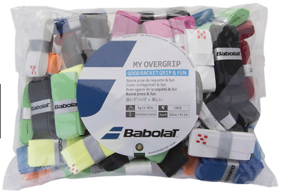 Babolat My Grip Tennis Racket Overgrip Baf Of 70 Mixed Coloured Grips over grip