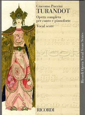 Giacomo Puccini Turandot Opera Completa Vocal Score Voice Piano Sheet Music Book
