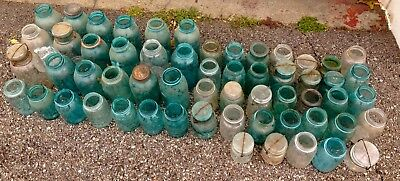 Vintage Mason Jars Lot Of 55 Mostly Atlas & Ball Brand