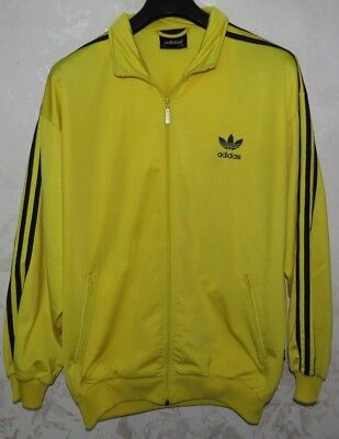 Giacca Jacket Adidas D7 Chandal Jersey Track Suit Yellow Vintage Rare Skool
