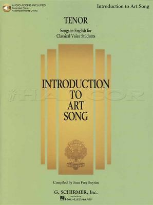 Introduction to Art Song Tenor Vocal Sheet Music Book with Audio Sing Classical