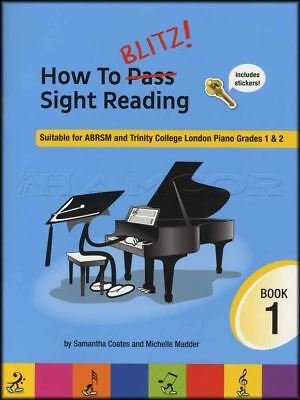 How To Blitz Sight Reading ABRSM & Trinity College Piano Grades 1 & 2 Music Book
