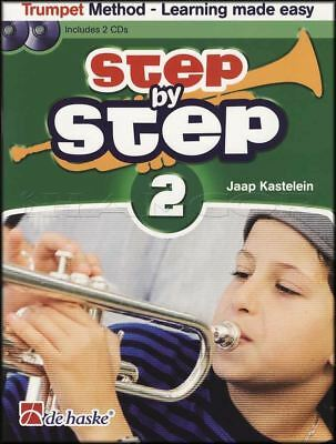 Step by Step 2 Trumpet Sheet Music Book/2CDs Learn How To Play Method