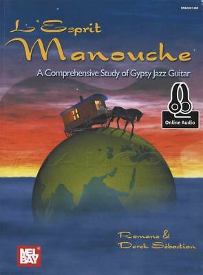 L'Esprit Manouche Study of Gypsy Jazz Guitar TAB Music Book with Audio Access