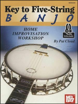 Key to Five-String Banjo TAB Music Book with Audio Learn How To Play Method
