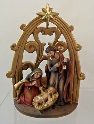 Nativity Tea Light Religious Scene Christmas Decoration