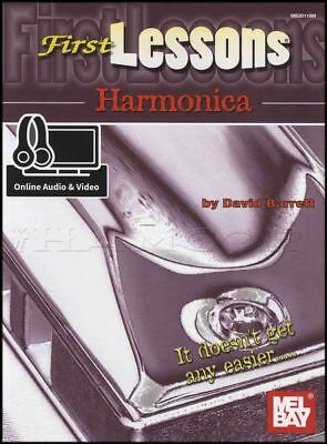 First Lessons Harmonica Sheet Music Book & Audio and Video Learn To Play Method