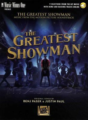 The Greatest Showman Music Minus One Vocals Sheet Music Book/Audio Voice Vocal