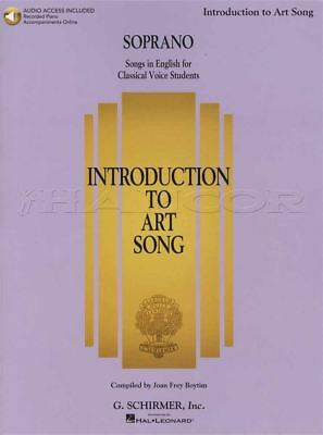 Introduction to Art Song Soprano Vocal Sheet Music Book & Audio Sing Classical