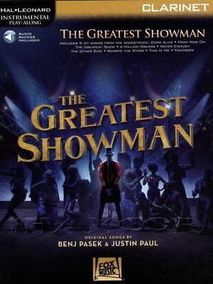 The Greatest Showman for Clarinet Instrumental Play-Along Sheet Music Book/Audio