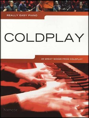 Really Easy Piano Coldplay Sheet Music Book
