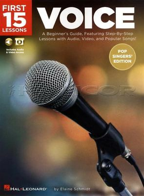 First 15 Lessons Voice Sheet Music Book/Audio/Video Learn How To Sing Method
