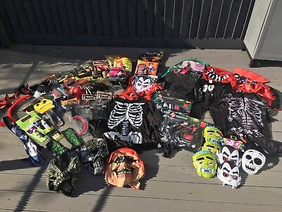 Massive Halloween Job Lot Of Costumes And Accessories - Adults And Children