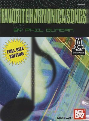 Favorite Harmonica Songs Sheet Music Book with Audio Full Size Edition Qwikguide