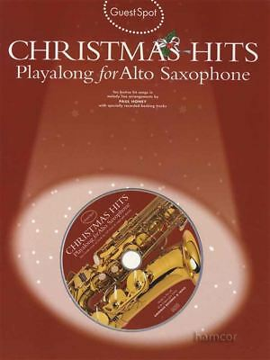 Guest Spot Christmas Hits Playalong for Alto Saxophone Music Book & Backing CD
