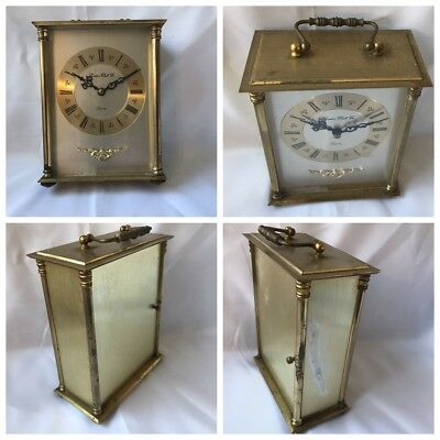 Carriage Clock Fully Working Very Heavy Brass Quartz Movement