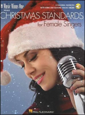 Christmas Standards for Female Singers Vocal Sheet Music Book/Audio Voice Xmas