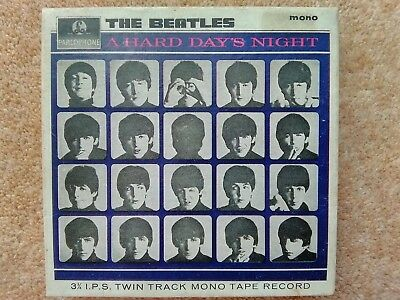 The Beatles, A Hard Days Night,mono 3 3/4 IPS twin track mono reel to reel tape
