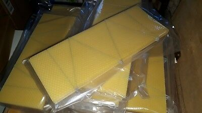 50x BROOD FOUNDATION  (WIRED) - BEESWAX  -  NATIONAL BEE HIVE