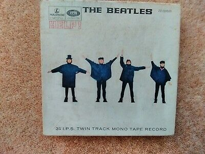 The Beatles, Help, mono 3 3/4 IPS twin track mono reel to reel tape