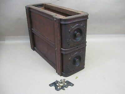 Antique Singer Treadle Sewing Machine Applied Carvings Double Drawers