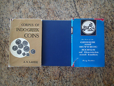 3 books on Greek Coin Collection Indo-Greek Numismatics