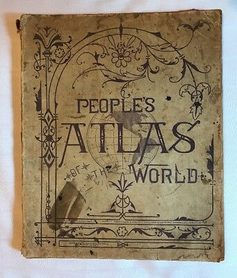 Antique People's Atlas of The World 1899 MAST CROWELL & KIRKPATRICK