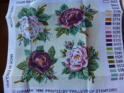 Ehrman Tapestry Canvas only, Four Roses