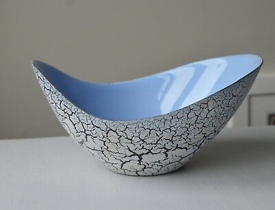 Hornsea vase,  'Coastline' crackle glaze, John Clappison blue /grey late 1950's?