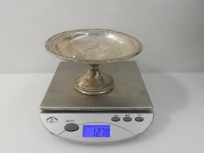 """5.5"""" Sterling Silver Frank M. Whiting Weighted Bonbon Dish 127.8g"""