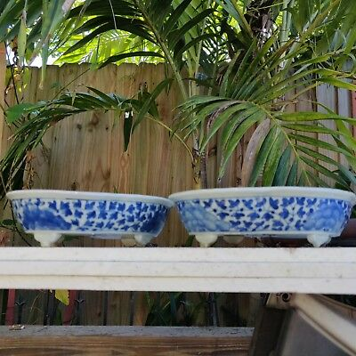 """Antique Chinese Porcelain Blue And White Kangxi Plates 9""""/7"""""""
