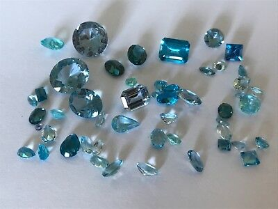 Antique vintage faceted real topaz  gemstones jewellery repair spares. 7 gr