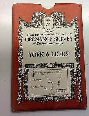 FIRST EDITION ORDNANCE SURVEY MAP (Reprinted) YORK & LEEDS
