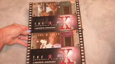 The X-files Authentic Film Original Limited Edition Cell 1996  LOT OF 2