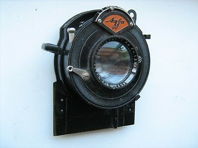 Agfa 135mm F4.5 lens and shutter for a 1930's large format plate camera