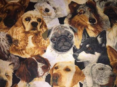 """Dogs Pug Shih Tzu  Cotton Throw Pillow Cover 16"""" x 16""""(This is the cover only)"""