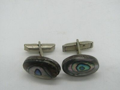Vintage Sterling Silver Alpaca Made in  Mexico Cufflinks