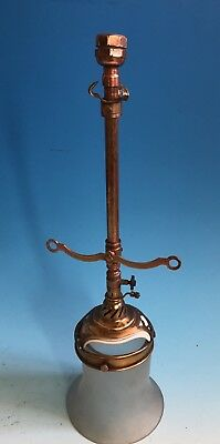 Original Victorian Gas Light / Lamp With Shade