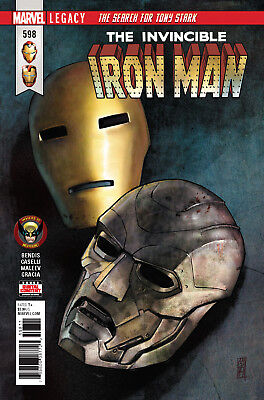 The Invincible Iron Man #598 Marvel Legacy - 1St Print - Boarded. Free Uk P+P