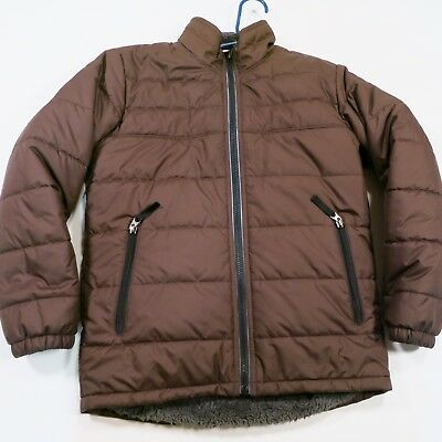 $99 The North Face Boys Reversible Mount Chimborazo Jakcet Youth Med Brown