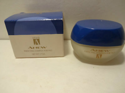 1992 New Old Stock Vtg Avon Anew Perfecting Complex Face Anti Aging Cream 1.7 Oz