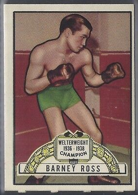 Topps-Ringside 1951-#45- Boxing - Barney Ross