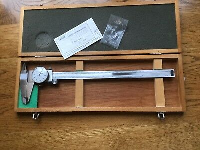 """Mitutoyo No.505-645-50 Dial Micrometer Caliper 0-12"""" w case stainless hardened"""