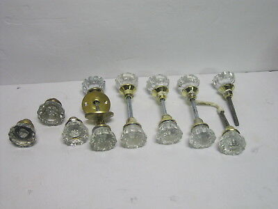 LOT of 13 Vintage Antique 12 Point Glass Door Knobs