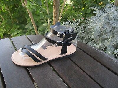 Hand Made Greek Leather Sandals (Black, Brown, Gold, Natural color)